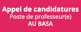 Poste de professeur(e) au BASA