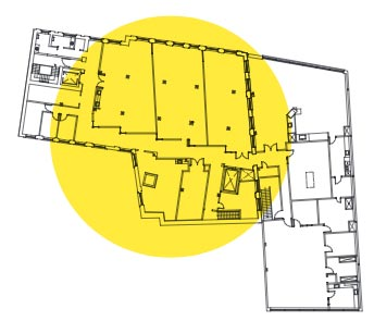 Plan d'aménagement du quatrième étage de l'édifice de la Fabrique